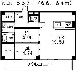 仮称)寺田町1丁目新築マンション[201号室号室]の間取り
