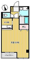 ゴールデンシャトー加賀[306号室]の間取り