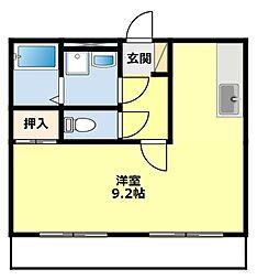 愛知県豊田市緑ケ丘7丁目の賃貸アパートの間取り