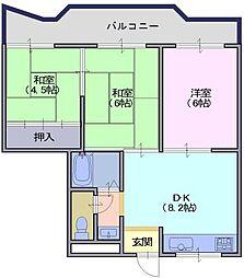 PADDYFIRLD21[4階]の間取り