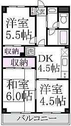 東京都杉並区下井草3丁目の賃貸マンションの間取り