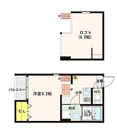 Chura Leef[1階]の間取り