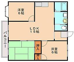 横田アパート[1階]の間取り