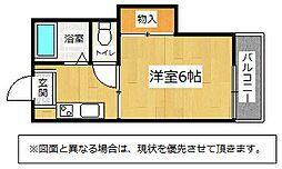 福岡県北九州市小倉南区守恒1丁目の賃貸アパートの間取り