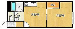 スリーエーマンション3[103号室]の間取り