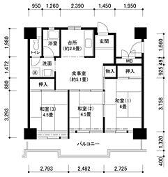 南港ひかりの14号棟[3階]の間取り