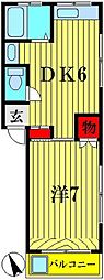 寿光ハイツ[2階]の間取り
