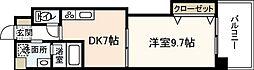 広島県広島市中区昭和町の賃貸マンションの間取り
