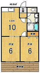 シャトー竹宇[102号室]の間取り