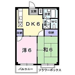 埼玉県鴻巣市鴻巣の賃貸アパートの間取り