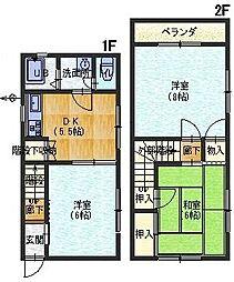 [テラスハウス] 兵庫県姫路市大津区天満 の賃貸【/】の間取り