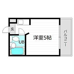 大阪府大阪市城東区東中浜8丁目の賃貸マンションの間取り