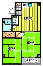 チェリーコーポ[3階]の間取り