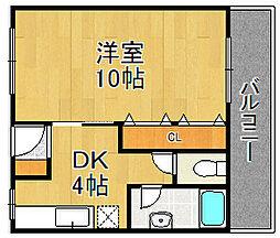 松崎マンション南武庫之荘[307号室]の間取り