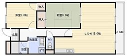 ミレニアムNISHIMURA[2階]の間取り
