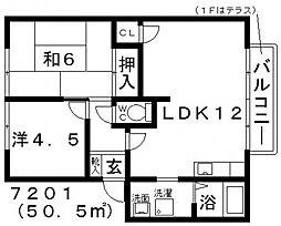 フレグランス薮野[2階]の間取り