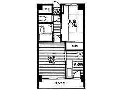 カーサグランメール[4階]の間取り