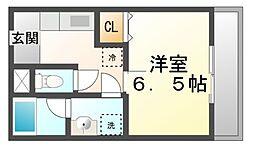 クレール・トキワ[2階]の間取り