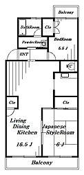 園生カキナカマンション[2階]の間取り