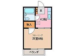 KAME HOUSE[1階]の間取り