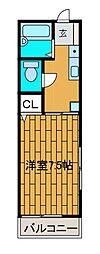 富士見ハイツ[206号室]の間取り