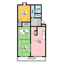 静岡県静岡市葵区千代田7丁目の賃貸マンションの間取り