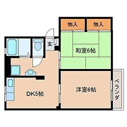 奈良県大和郡山市柳の賃貸アパートの間取り