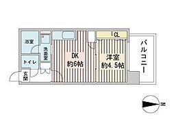 S-RESIDENCE円山表参道 9階1LDKの間取り