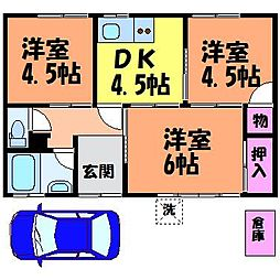 [一戸建] 愛媛県松山市六軒家町 の賃貸【/】の間取り