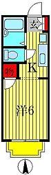 MBSハイツ北小金[1階]の間取り