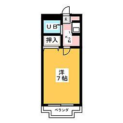 プレジデント八幡[5階]の間取り