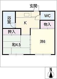 第二上中荘[1階]の間取り