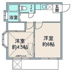 メゾンジュアラー坂戸[2階]の間取り