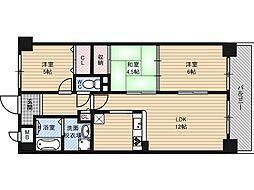 生島リバーサイドマンションD棟[4階]の間取り