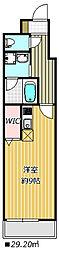 レオ伍拾八番館 3階ワンルームの間取り