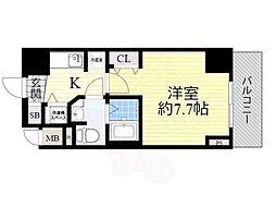 Osaka Metro中央線 本町駅 徒歩3分の賃貸マンション 5階1Kの間取り