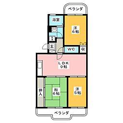 タージマンション[2階]の間取り