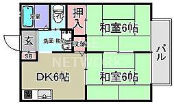 Keiハウス[201号室号室]の間取り