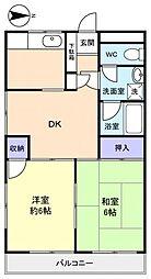 ハイムワセダ[1階]の間取り