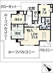 シャトレ御棚[4階]の間取り