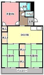 寿マンションC[3階]の間取り