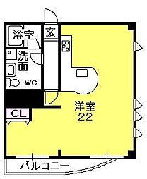 コロナール甲子園[503号室]の間取り