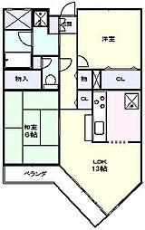 グレース新松戸[1階]の間取り