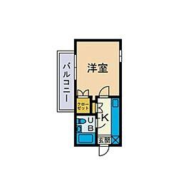 ユースピア本厚木[3階]の間取り
