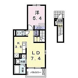 ガーデンホームズ薬師II[2階]の間取り