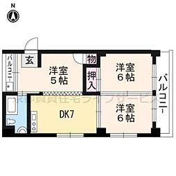 小堀マンション北大入町[5-C号室]の間取り