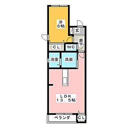 PRIUS若田[2階]の間取り