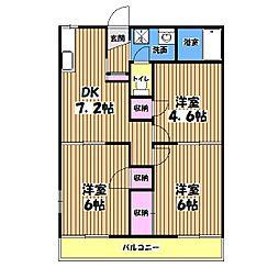 ディアコートD棟[1階]の間取り