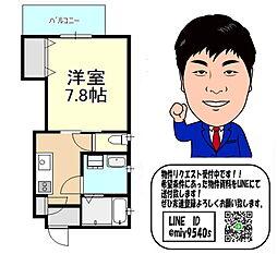 京阪線 門真市駅 徒歩12分 3階1Kの間取り