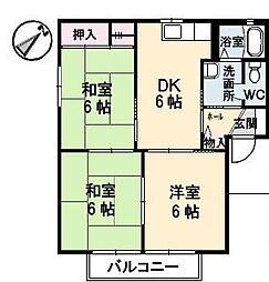 フォーレスODA A・B[1階]の間取り